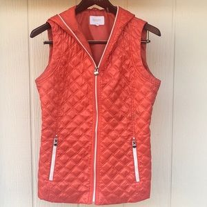🍂LAUNDRY By: Shelli Segal L (Flaw) Quilted Vest